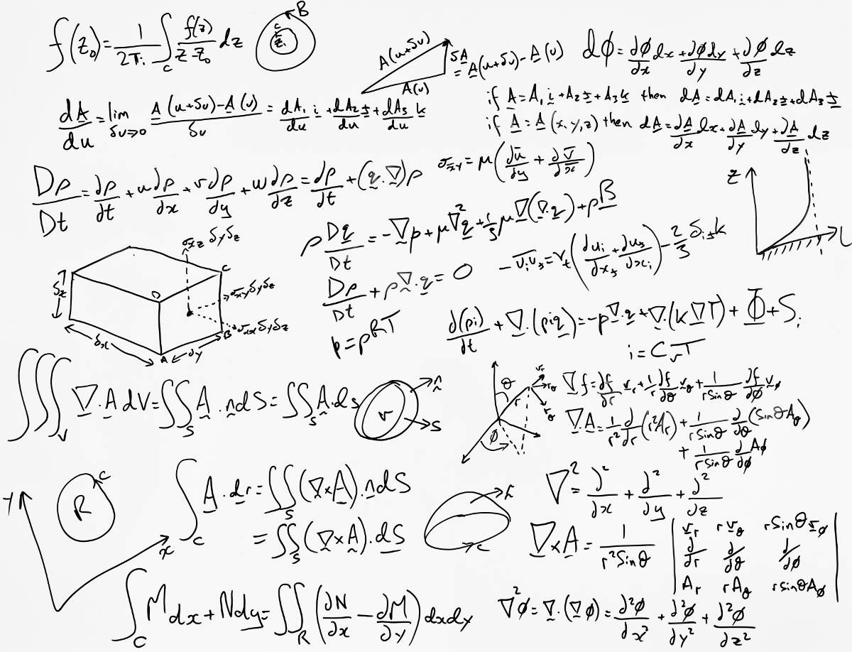 A Whiteboard Full of Calculations